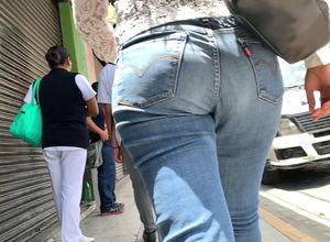 Candid Denim Ass . 2