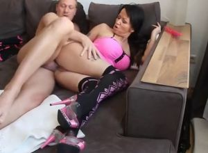 Fantastic mutter liebt doggy style mit..