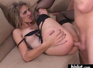 cougar takes it up her caboose