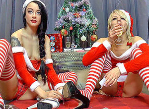 Festive joy with Brits April and Alessa