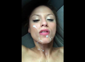 Spectacular cougar facial jizz shot..