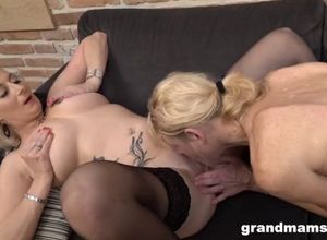 Ultra-kinky grannie penalizes mature..