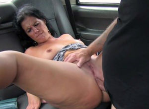Montse in London cabbie has rectal..