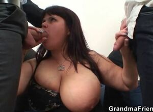 Heavy jugs full-grown main swallows..