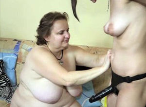 Obese sitter luvs youngster vagina joy