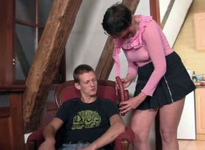 Naughty mummy in law tempts him