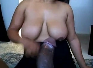Round mature dark-hued wifey in the..