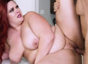 Huge-titted Plus-size gets her vulva..