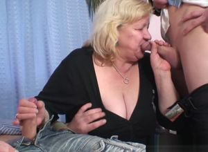 Huge-titted grandma in tights  2..