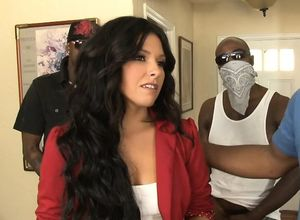 Danica Dillon dual nailed by ebony..
