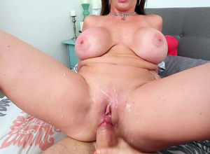 Best Threesome! Huge-titted Mummy Sara..